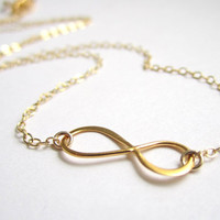 Forever Yours, Floating gold infinity necklace