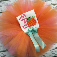Baby Girls Fall First Birthday Outfit, Pumpkin Birthday Outfit, Baby Girl TuTu, Baby Girls Birthday Clothes, Pick & Choose Set