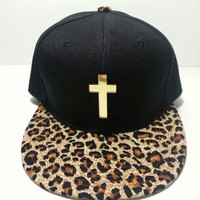 Gold Cross Cheetah Snapback by Stereotype Co ASAP Rocky Trill
