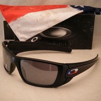 Oakley Fuel Cell Matte Black w TX Flag w Black Iridium Lens (oo9096-J1)