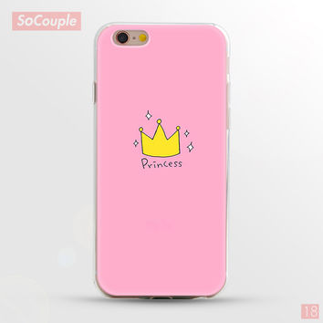 Pink Princess Crown Ultrathin Soft TPU Back Case Cover Shell for iPhone 5 5s SE 6 6s 6 Plus 6s Plus 7