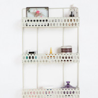 Three-Tier Perforated Shelf in White - Urban Outfitters