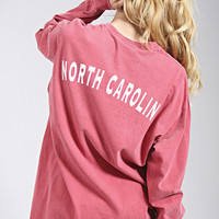 charlie southern: state spirit long sleeve - North Carolina [red]