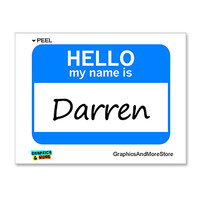 Darren Hello My Name Is Sticker