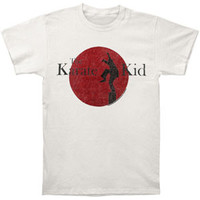 Karate Kid Men's  80's Logo T-shirt Off-White