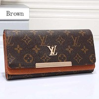 Lv Women Leather Multicolor Wallet Purse-1