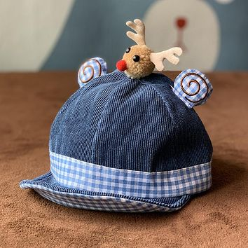 Christmas Elk Baby Hat Cotton Caps Boys Young Children Girls Baby Autumn And Winter Cute Spring And Autumn