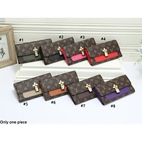 LV hot selling lady's casual shopping bag fashion printed patchwork color shoulder bag