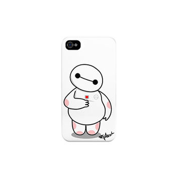 Big Hero 6 Six - Baymax Lollipop White Plastic Phone Case for iPhone 4/4S/5/5S/5C/6/6+ and Samsung S4/S5