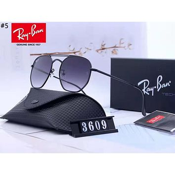 Ray-Ban 2019 new large frame color film polarized sunglasses #5