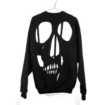 Skull Cut Out Sweatshirt Perfect for Halloween by EsoCon on Etsy