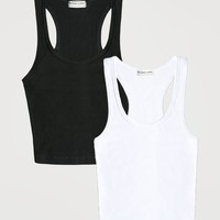 Work It Out Tank Black & White Pack
