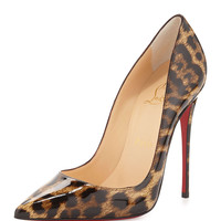 So Kate Patent Red Sole Pump, Brown/Leopard - Christian Louboutin - Brown