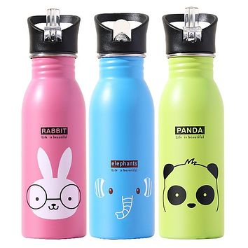 500ML Children's Stainless Steel Sports Water Bottles Portable Outdoor Cycling Camping Bicycle Bike Kettle