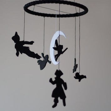 Peter Pan inspired Baby Room Decor - Nursery Decor - Felt Mobile - Kids Room Decor - Baby Crib Mobile - Felt Decoration-Captain Hook