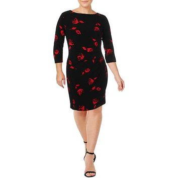 Lauren Ralph Lauren Womens Sheath Dress Floral Print 14