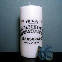 Halloween Candle - Ouija Board - White