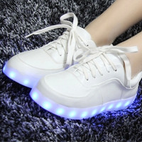 Colorful LED charging shoes