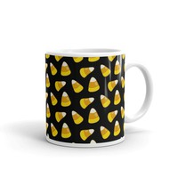 Halloween Candy Corn BLACK Mug