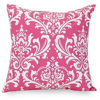 Hot Pink French Quarter Large Pillow