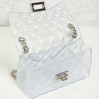 Clear Quilted Crossbody