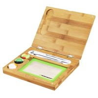 Rosineer Rosin Dab Organizer Including 4-Pc Stainless Steel Carving Scraping Tools for Shatter + 3-Pc Silicone Wax Concentrate Containers + 1-Pc Non-Stick Budder Oil Silicone Mat + Bamboo Station - Walmart.com