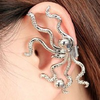 Fashion Punk Octopus Ear Clip from LOOBACK FASHION STORE