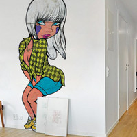 Pin Up Graffiti Wall Decal