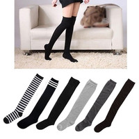 Fashion Sexy Cotton Over The Knee Socks Thigh High Stockings Thinnery = 1929982148
