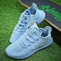 Adidas Tubular Shadow Knit Yeezy 350 Light Blue Sport Running Shoes - Best Online Sale