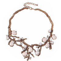Pearl & Coral Statement Necklace