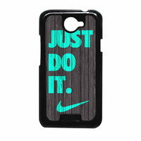 Nike Just Do It Wood Colored Darkwood Wooden Fdl HTC One X Case