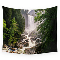 Society6 Yosemite Waterfall Wall Tapestry