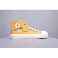 Converse All Star New fashion men sports leisure shoes Yellow
