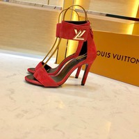 Louis Vuitton LV Red Women Fashion Pointed Toe High Heels Shoes