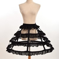 Women Cosplay Vintage Medieval Skirt Victorian Gothic Lolita Fishbone Petticoat Underskirt for Ball Gown