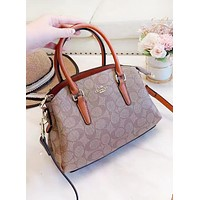 Coach New fashion pattern leather shoulder bag handbag women