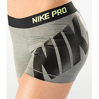 Nike Pro Women Fashion Print Gym Yoga Running Sports Shorts