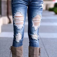 Rip My Heart Out Distressed Skinny Jeans