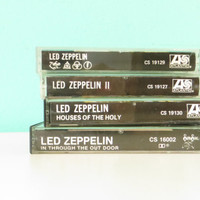 Led Zeppelin 4 Cassette Tapes - II, IV, Houses of the Holy, and In Through the Out Door