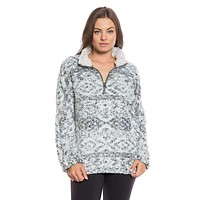 Tribal Frosty Tipped Women's Stadium Pullover in Aqua by True Grit (Dylan)