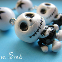Baby Jack Skellington Nightmare before Christmas Earrings Kawaii emo gothic punk lolita rock