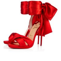 Tres Frais 120 Flamenco Crepe satin/Satin/Lurex - Women Shoes - Christian Louboutin