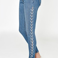 PacSun Marilyn Blue Perfect Fit Jeggings at PacSun.com