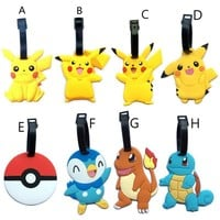 2017 New Travel Accessories Suitcase Luggage Tags  ID Address Holder Luggage Label Silicone Identifier Travel AccessoriesKawaii Pokemon go  AT_89_9