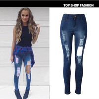 women pants plus size jeans hole trousers sexy [9918827852]