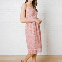 Sukie Pink Lace Dress-FINAL SALE