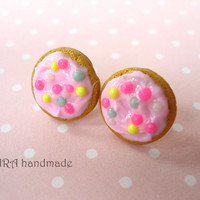 Kawaii frosted cookie ear studs