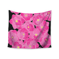 """Skye Zambrana """"In Bloom Pink"""" Floral Wall Tapestry"""