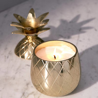 Volcanica Candles Gold Pineapple Candle   Urban Outfitters